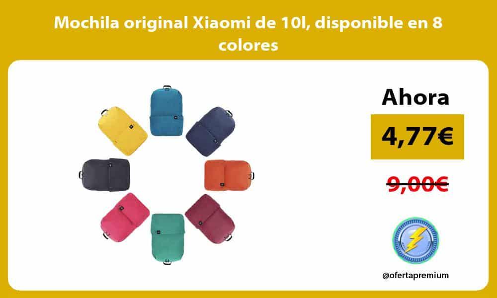 Mochila original Xiaomi de 10l disponible en 8 colores