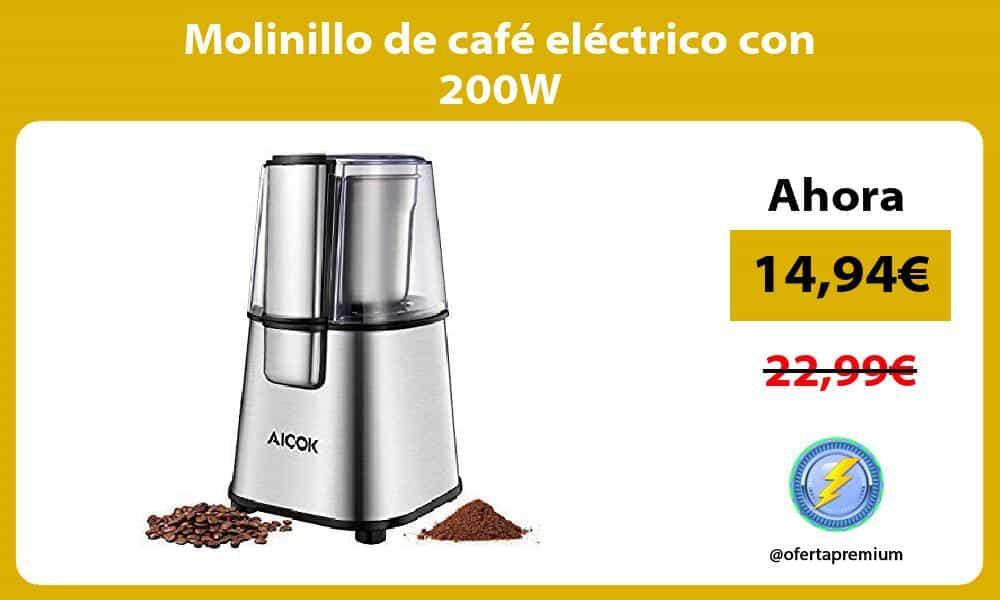 Molinillo de café eléctrico con 200W