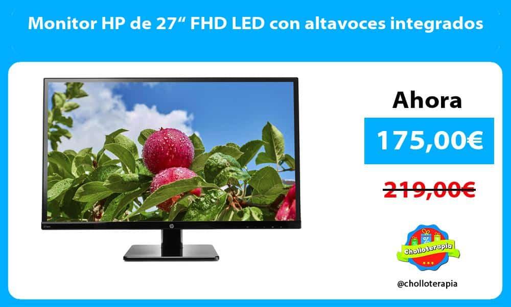 "Monitor HP de 27"" FHD LED con altavoces integrados"