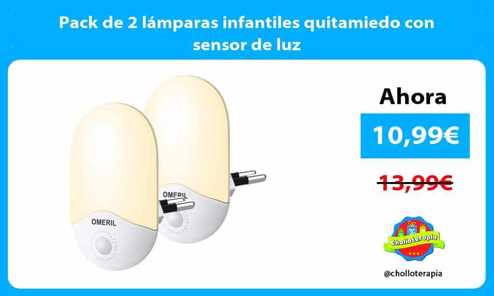 Pack de 2 lámparas infantiles quitamiedo con sensor de luz