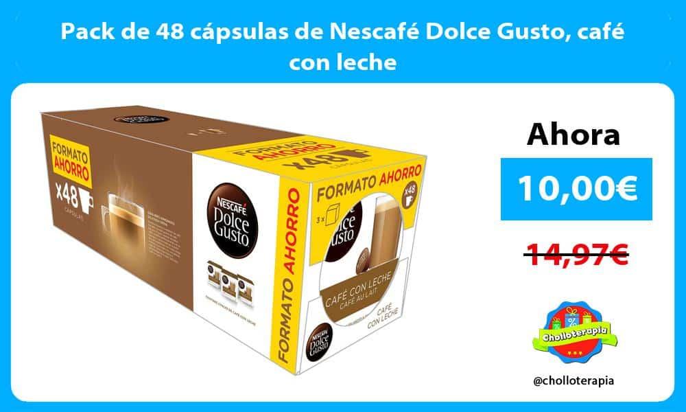 Pack de 48 cápsulas de Nescafé Dolce Gusto café con leche