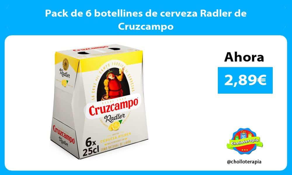 Pack de 6 botellines de cerveza Radler de Cruzcampo