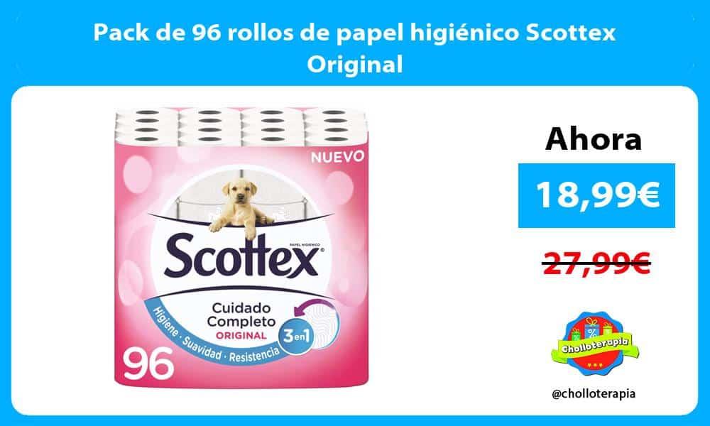 Pack de 96 rollos de papel higiénico Scottex Original