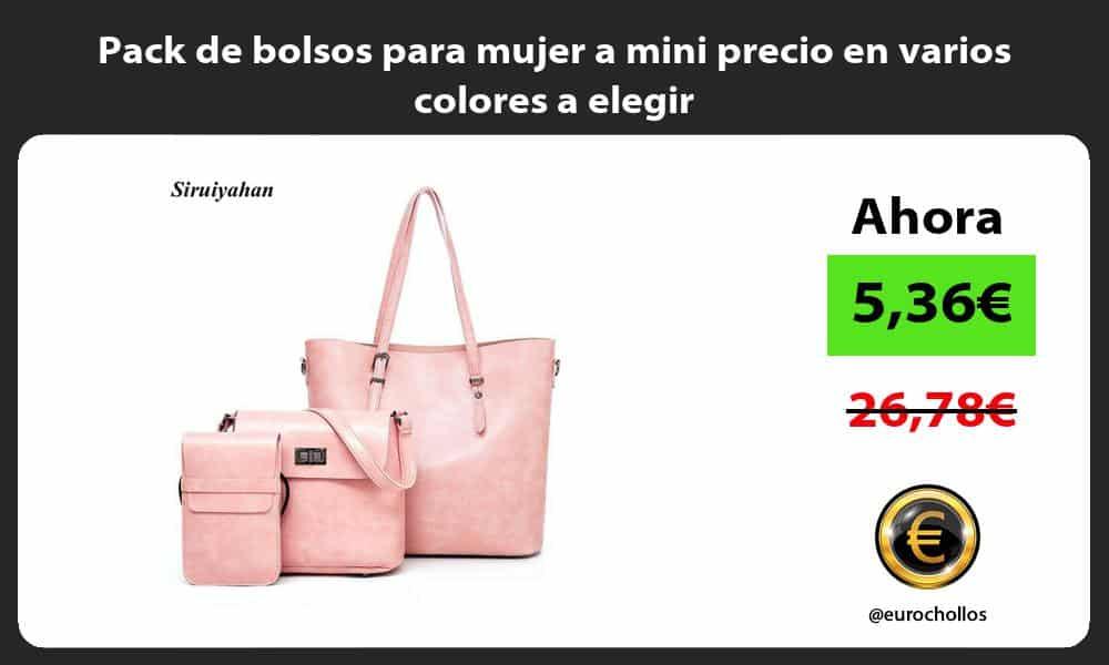 Pack de bolsos para mujer a mini precio en varios colores a elegir