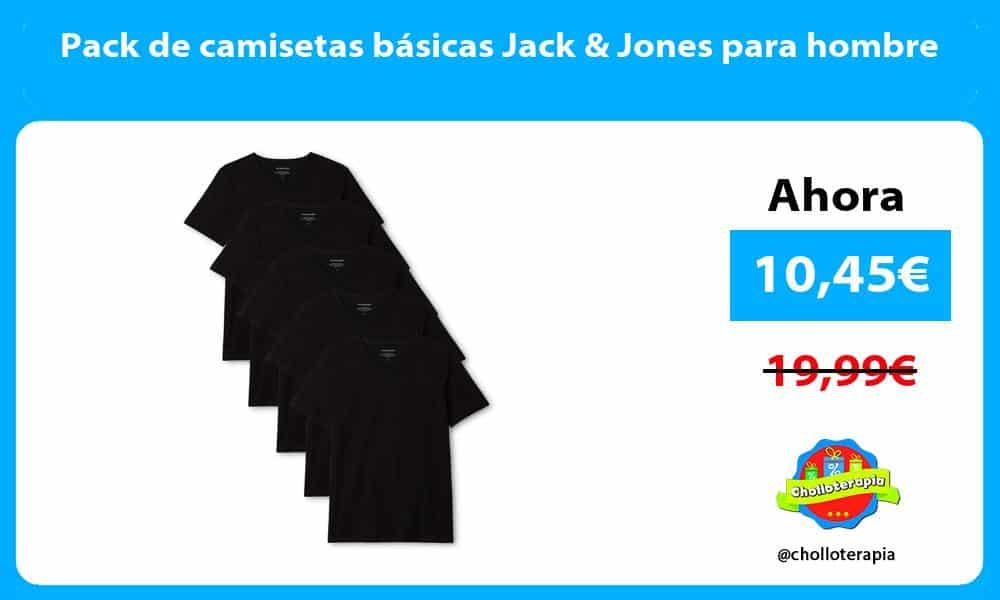 Pack de camisetas básicas Jack Jones para hombre