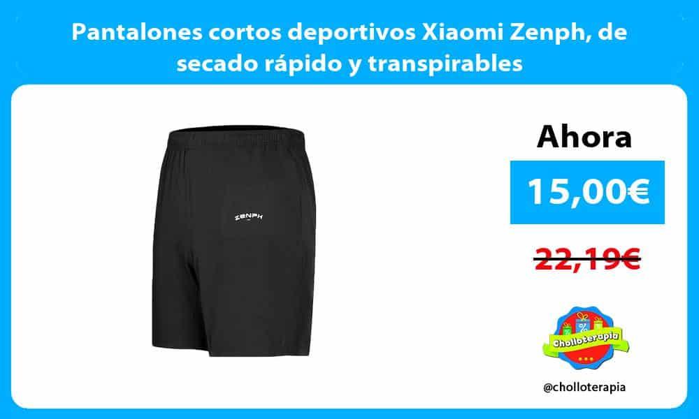 Pantalones cortos deportivos Xiaomi Zenph de secado rápido y transpirables