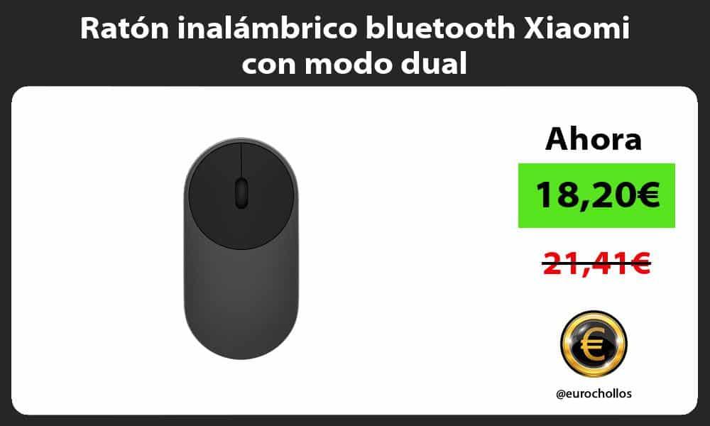 Ratón inalámbrico bluetooth Xiaomi con modo dual