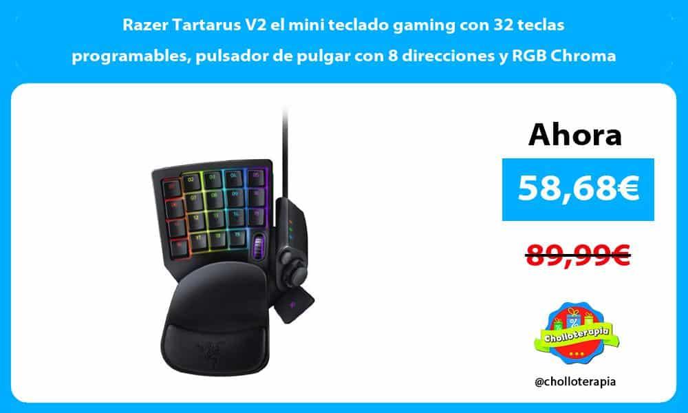 Razer Tartarus V2 el mini teclado gaming con 32 teclas programables pulsador de pulgar con 8 direcciones y RGB Chroma