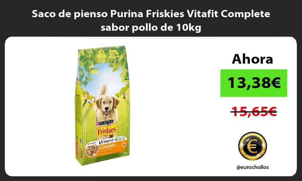 Saco de pienso Purina Friskies Vitafit Complete sabor pollo de 10kg