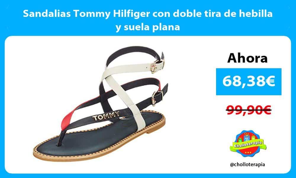 Sandalias Tommy Hilfiger con doble tira de hebilla y suela plana