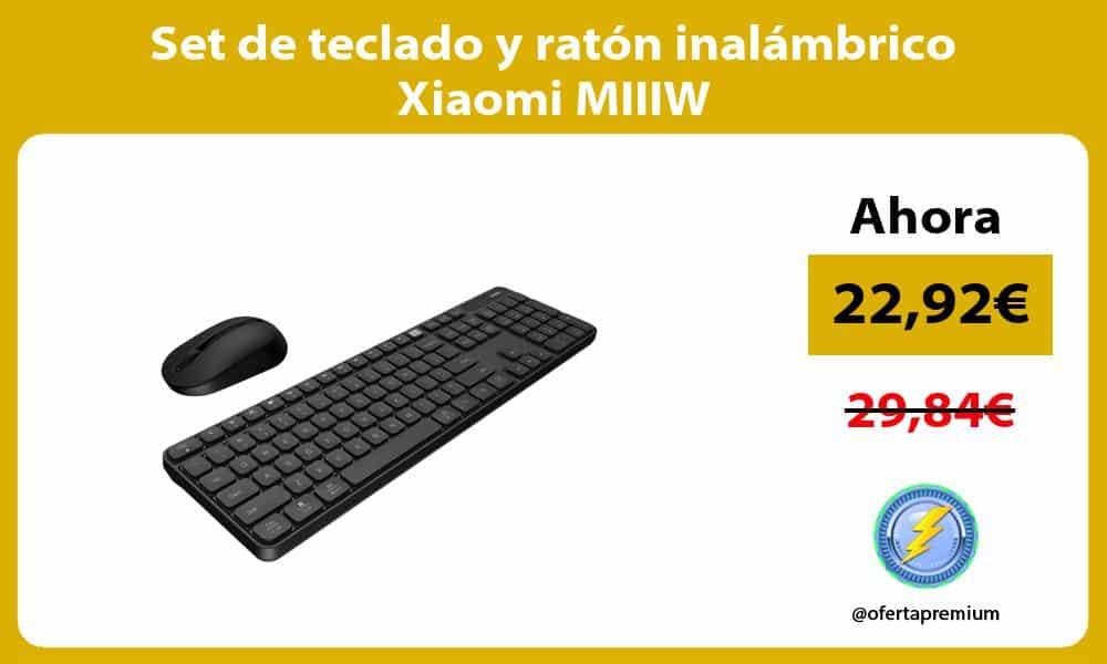 Set de teclado y ratón inalámbrico Xiaomi MIIIW