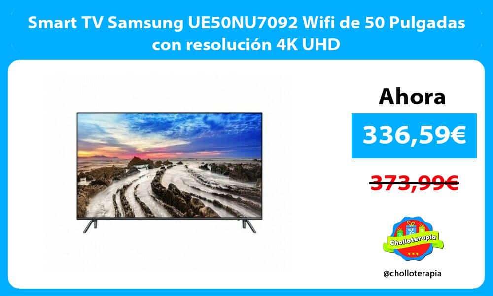 Smart TV Samsung UE50NU7092 Wifi de 50 Pulgadas con resolución 4K UHD