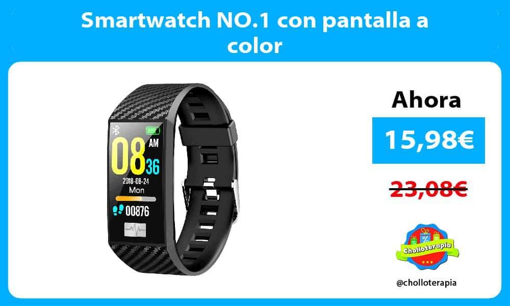 Smartwatch NO.1 con pantalla a color
