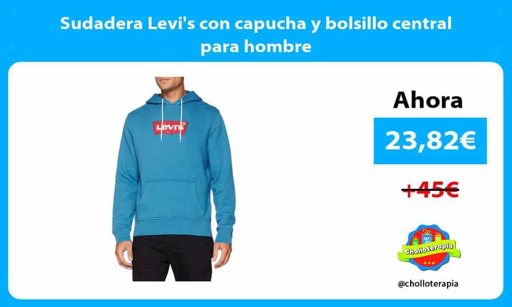 Sudadera Levis con capucha y bolsillo central para hombre