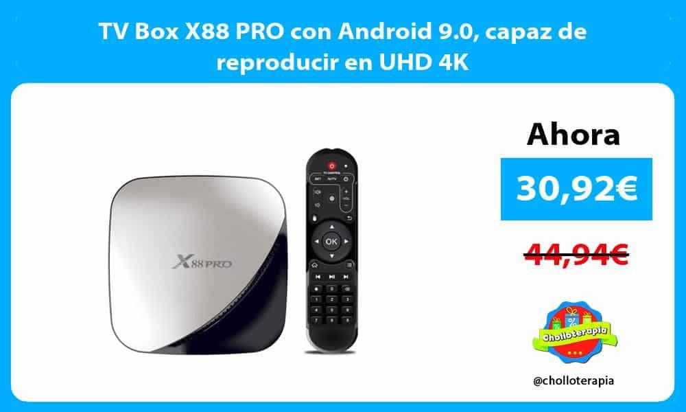 TV Box X88 PRO con Android 9.0 capaz de reproducir en UHD 4K