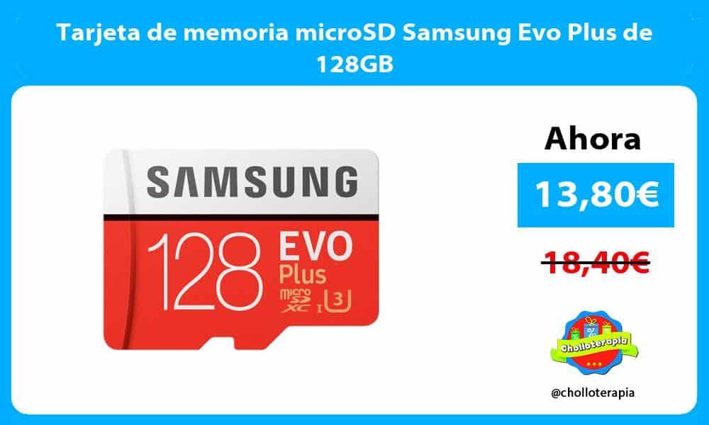 Tarjeta de memoria microSD Samsung Evo Plus de 128GB