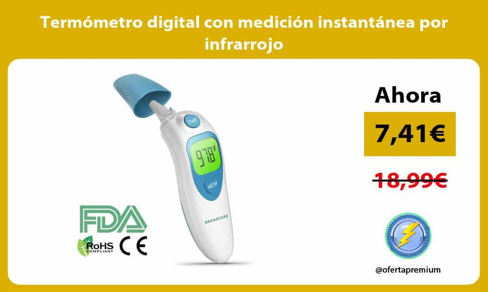 Termómetro digital con medición instantánea por infrarrojo