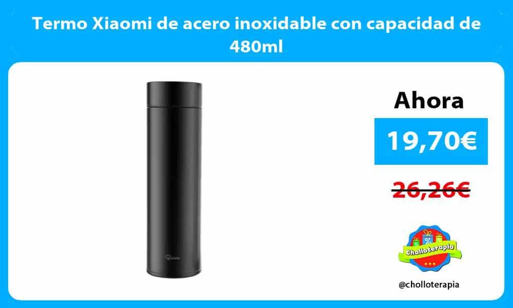 Termo Xiaomi de acero inoxidable con capacidad de 480ml