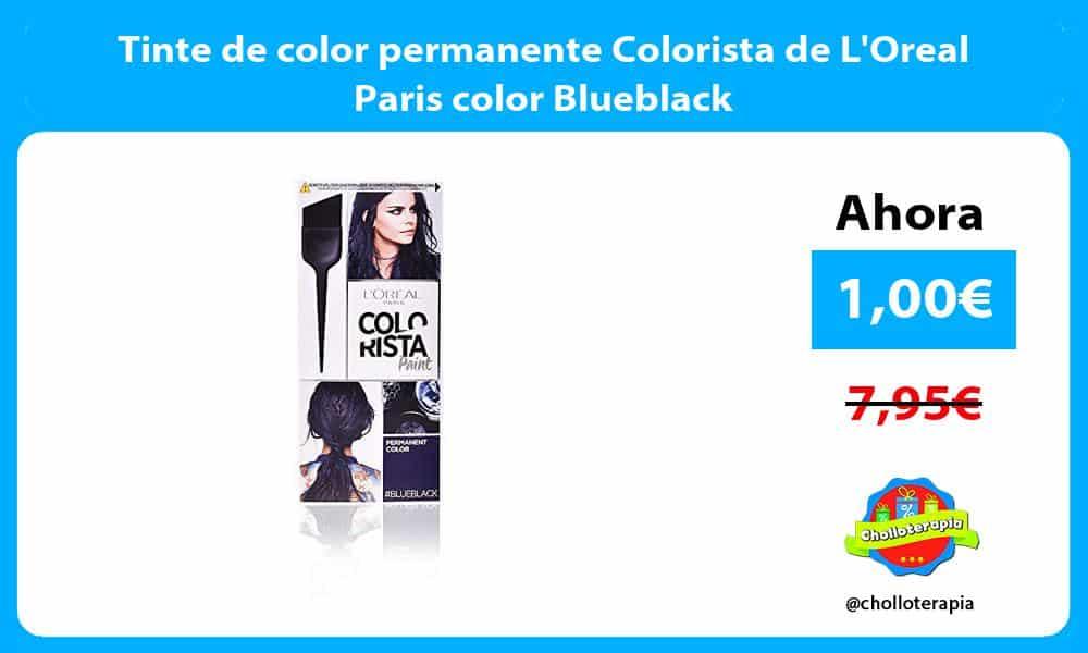 Tinte de color permanente Colorista de LOreal Paris color Blueblack