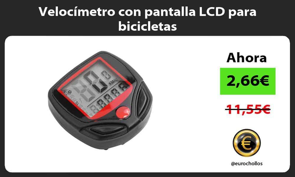 Velocímetro con pantalla LCD para bicicletas