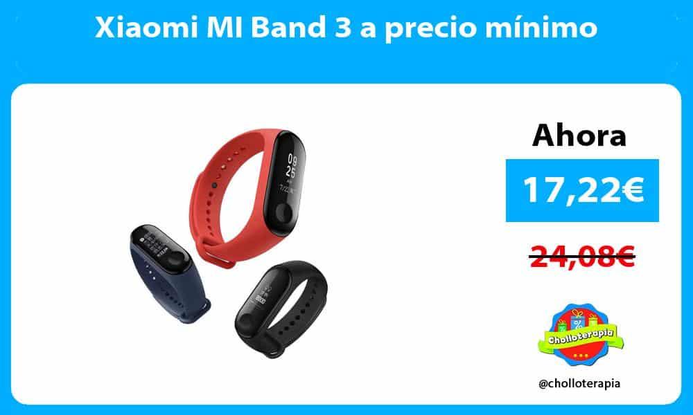 Xiaomi MI Band 3 a precio mínimo