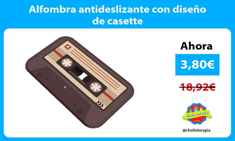 Alfombra antideslizante con diseño de casette
