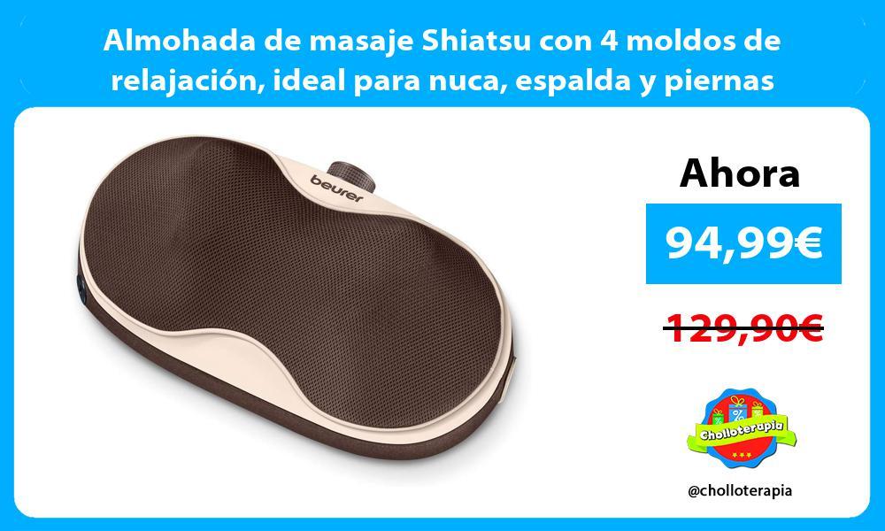 Almohada de masaje Shiatsu con 4 moldos de relajación ideal para nuca espalda y piernas