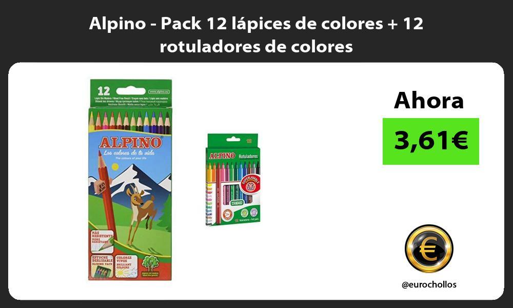 Alpino Pack 12 lápices de colores 12 rotuladores de colores