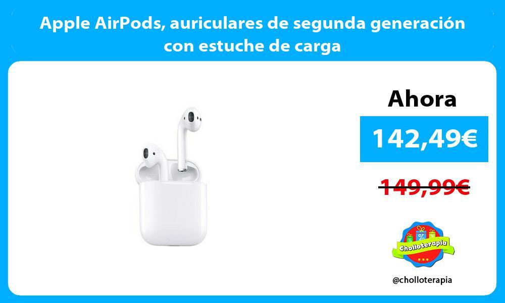Apple AirPods auriculares de segunda generación con estuche de carga