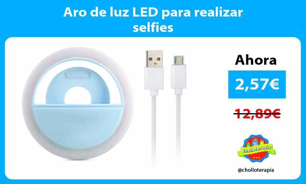 Aro de luz LED para realizar selfies