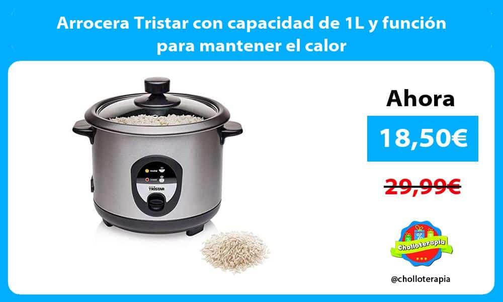Arrocera Tristar con capacidad de 1L y función para mantener el calor