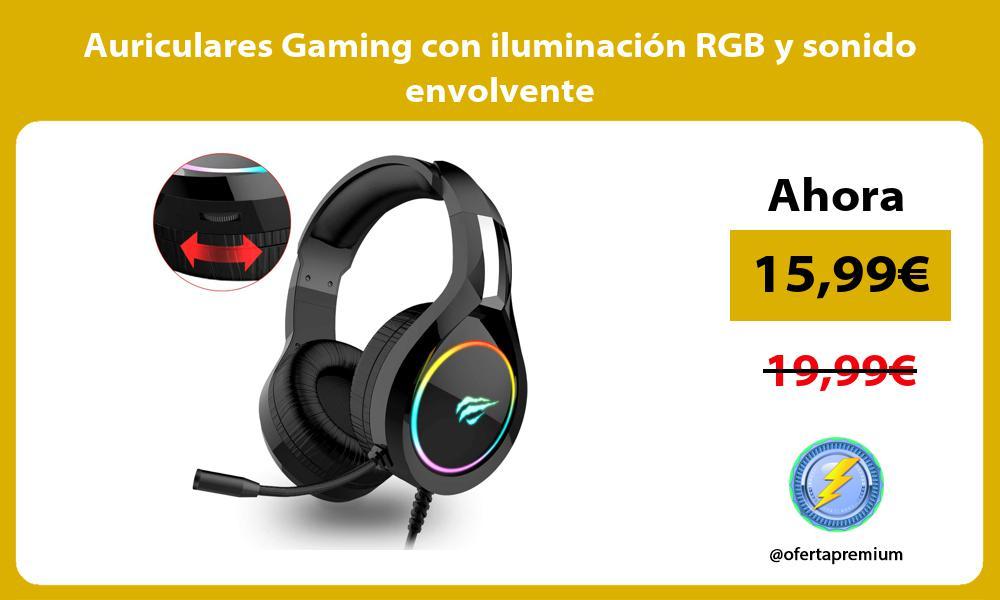 Auriculares Gaming con iluminación RGB y sonido envolvente