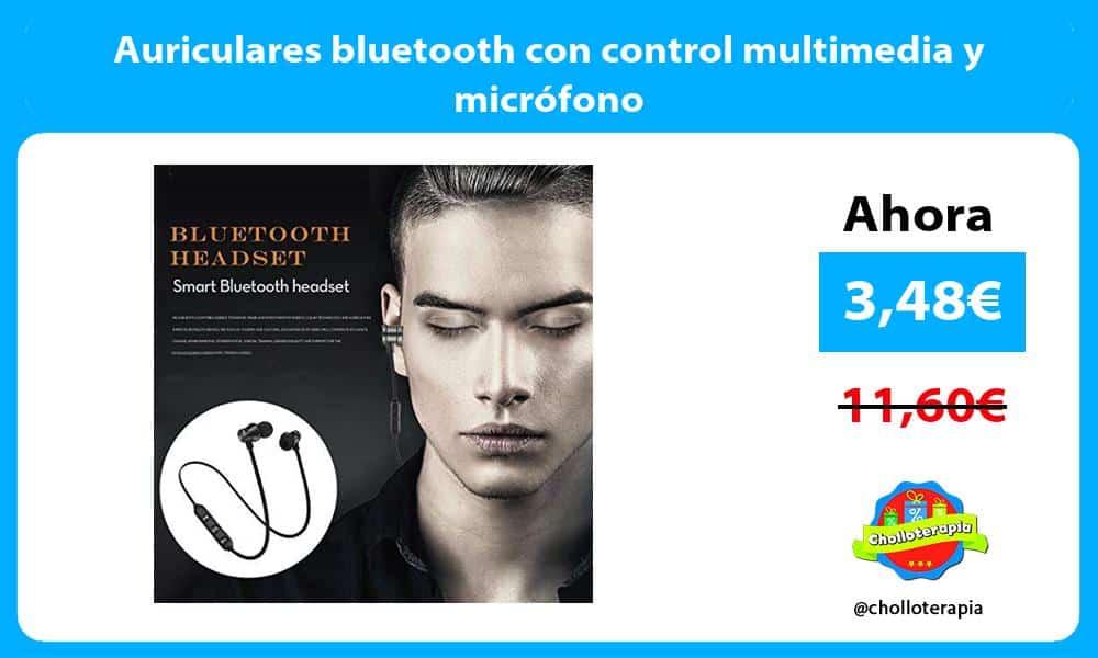 Auriculares bluetooth con control multimedia y micrófono