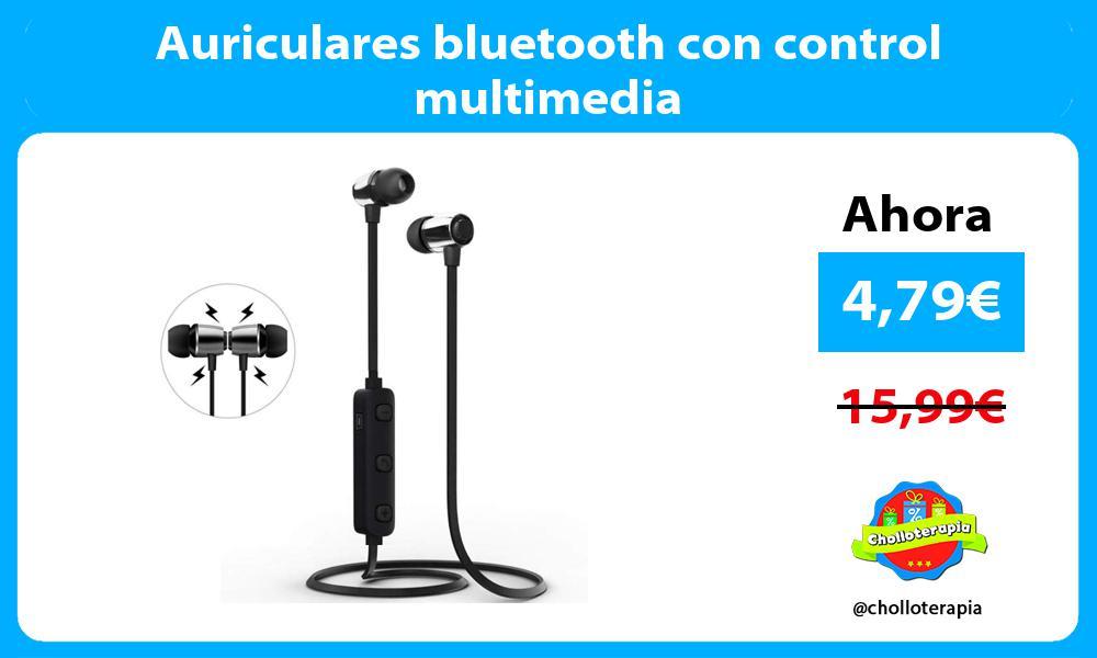 Auriculares bluetooth con control multimedia