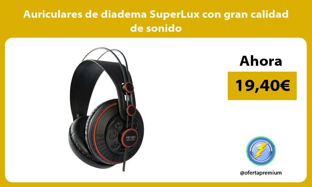 Auriculares de diadema SuperLux con gran calidad de sonido