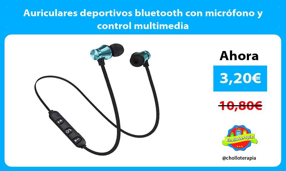 Auriculares deportivos bluetooth con micrófono y control multimedia