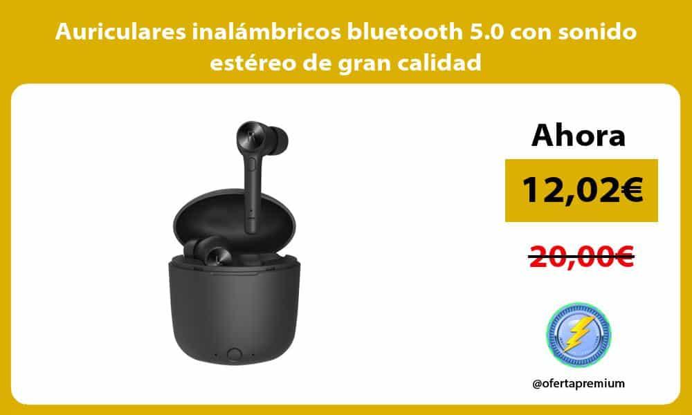 Auriculares inalámbricos bluetooth 5.0 con sonido estéreo de gran calidad