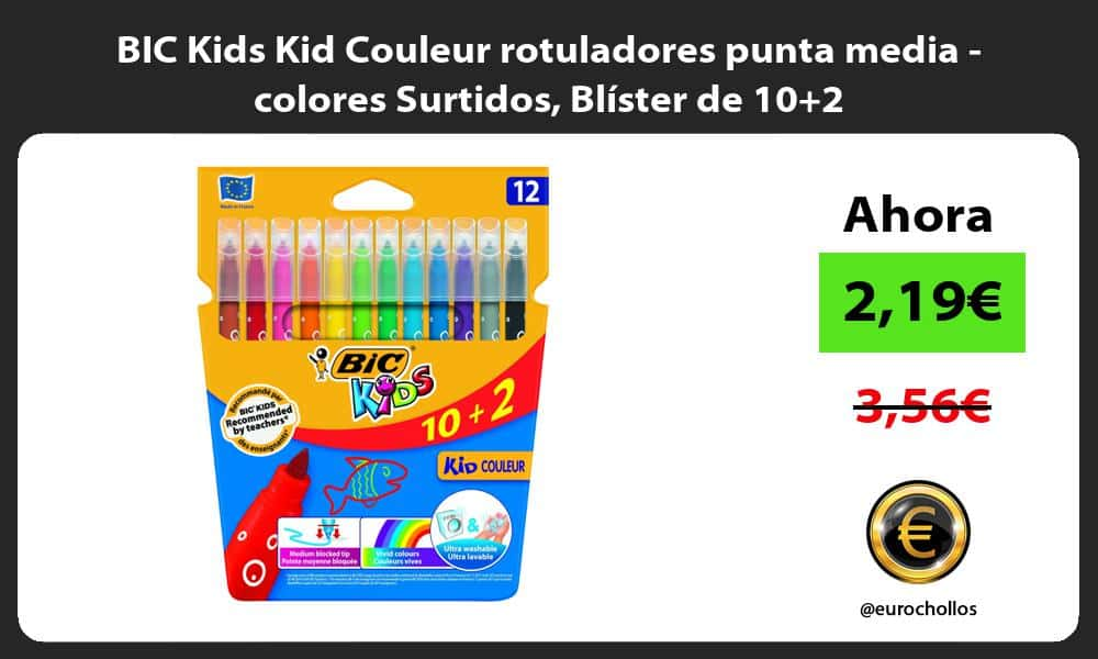 BIC Kids Kid Couleur rotuladores punta media colores Surtidos Blíster de 102