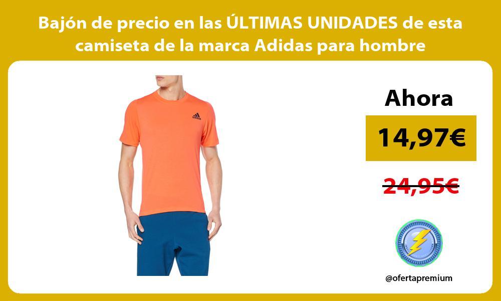 Bajón de precio en las ÚLTIMAS UNIDADES de esta camiseta de la marca Adidas para hombre