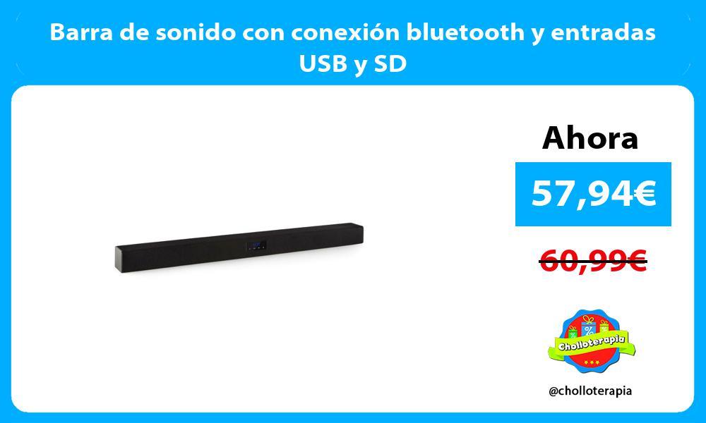 Barra de sonido con conexión bluetooth y entradas USB y SD