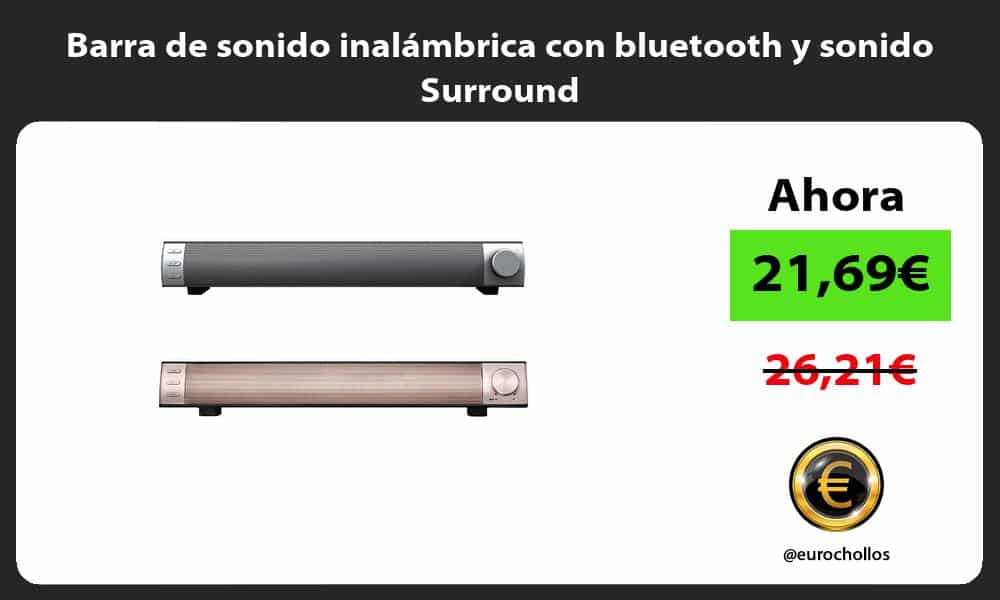Barra de sonido inalámbrica con bluetooth y sonido Surround