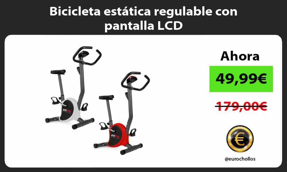 Bicicleta estática regulable con pantalla LCD