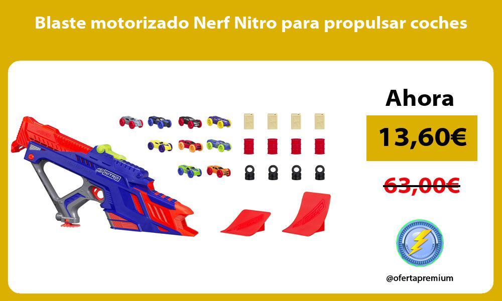 Blaste motorizado Nerf Nitro para propulsar coches