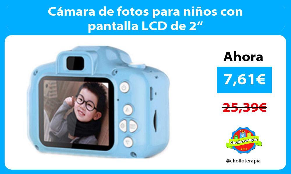 """Cámara de fotos para niños con pantalla LCD de 2"""""""