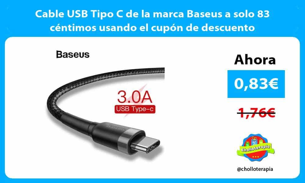 Cable USB Tipo C de la marca Baseus a solo 83 céntimos usando el cupón de descuento