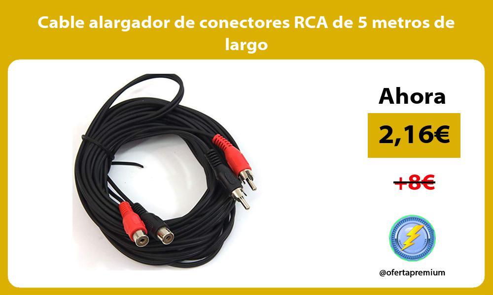 Cable alargador de conectores RCA de 5 metros de largo