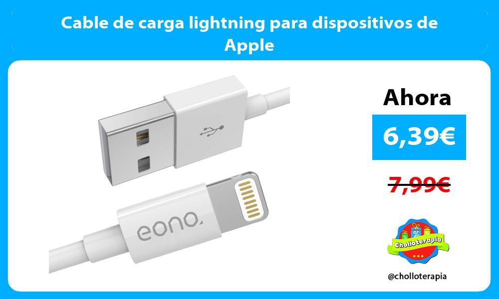 Cable de carga lightning para dispositivos de Apple