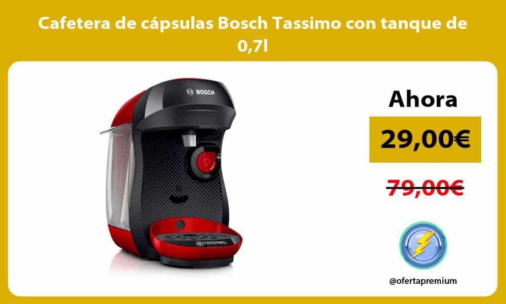 Cafetera de cápsulas Bosch Tassimo con tanque de 07l
