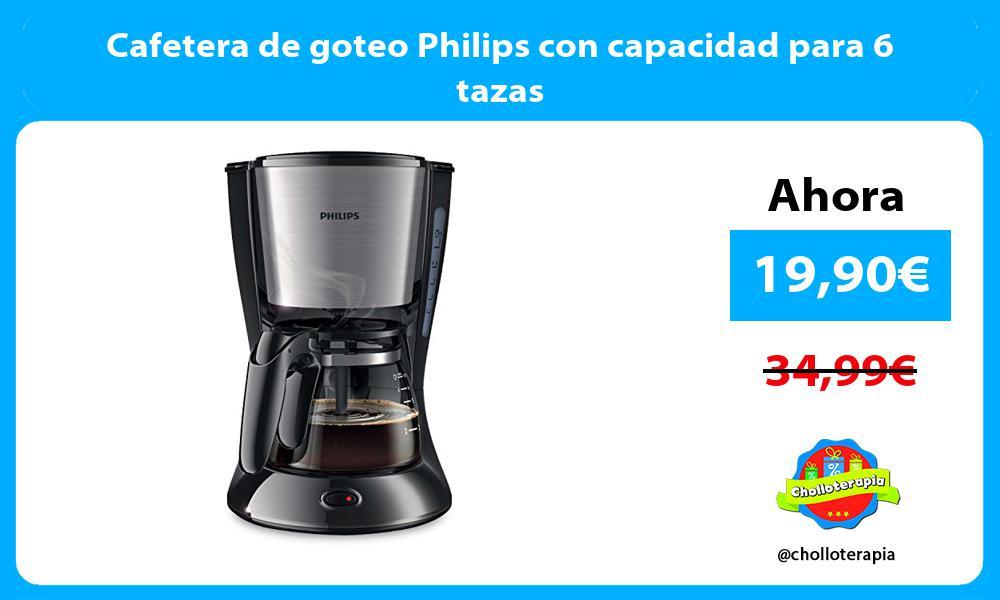 Cafetera de goteo Philips con capacidad para 6 tazas