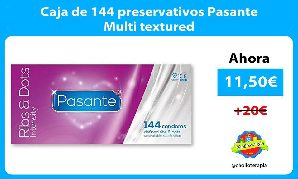 Caja de 144 preservativos Pasante Multi textured